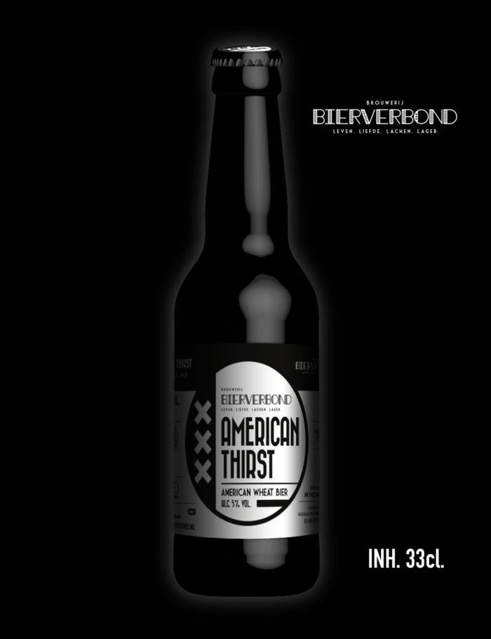 American thirst American Wheat bier van Brouwerij Bierverbond Amsterdam