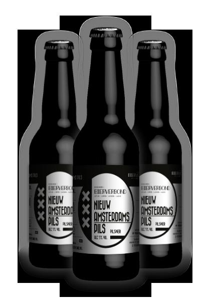 Nieuw Amsterdams Pils van Brouwerij Bierverbond Amsterdam