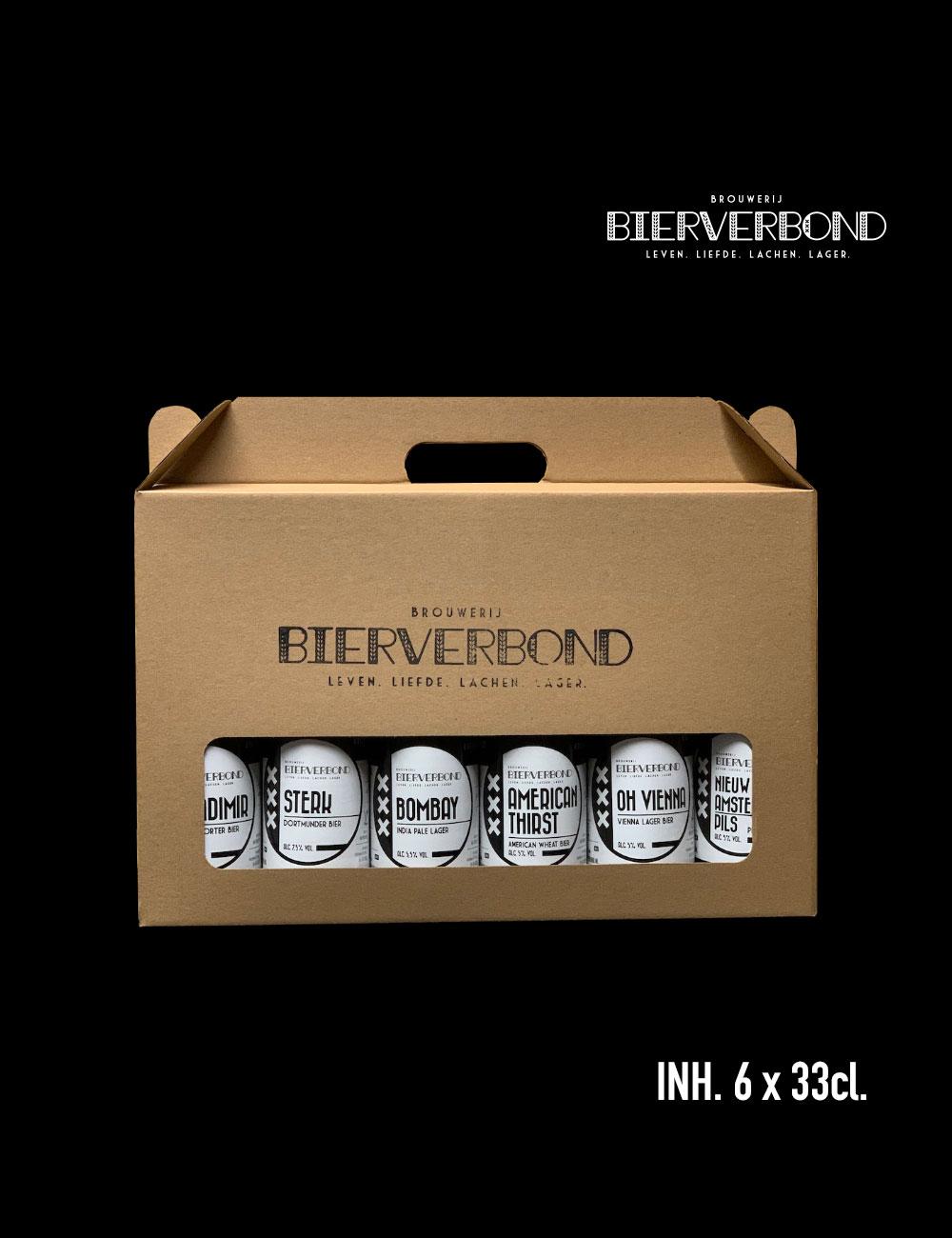 Bierverbond Geschenkdoos 6 flesjes (gratis verzonden)*
