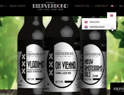 Bierverbond website for non-Dutch speakers