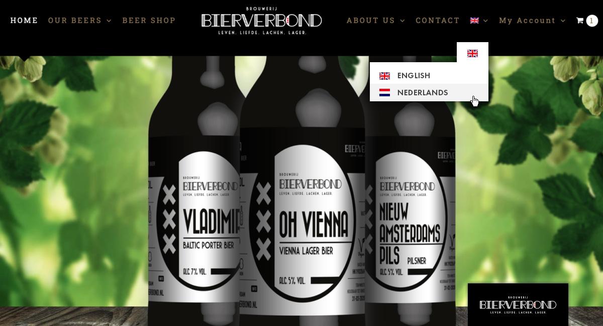 vertaling website bierverbond