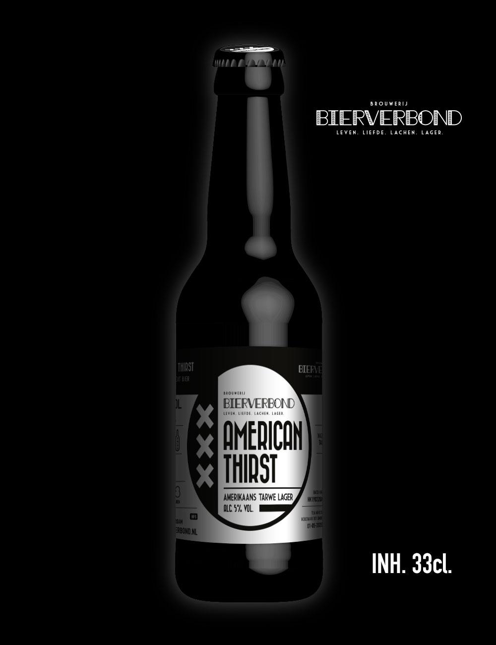 American thirst Amerikaans tarwe lager van Brouwerij Bierverbond Amsterdam