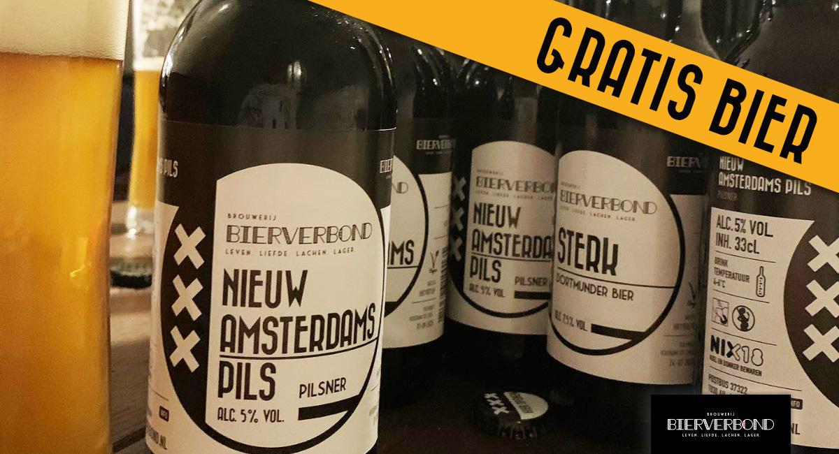 Gratis Bier bij het Bierverbond Amsterdam
