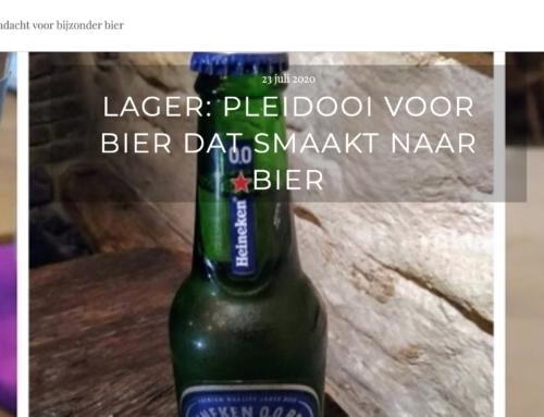 Pleidooi voor bier dat smaakt naar bier